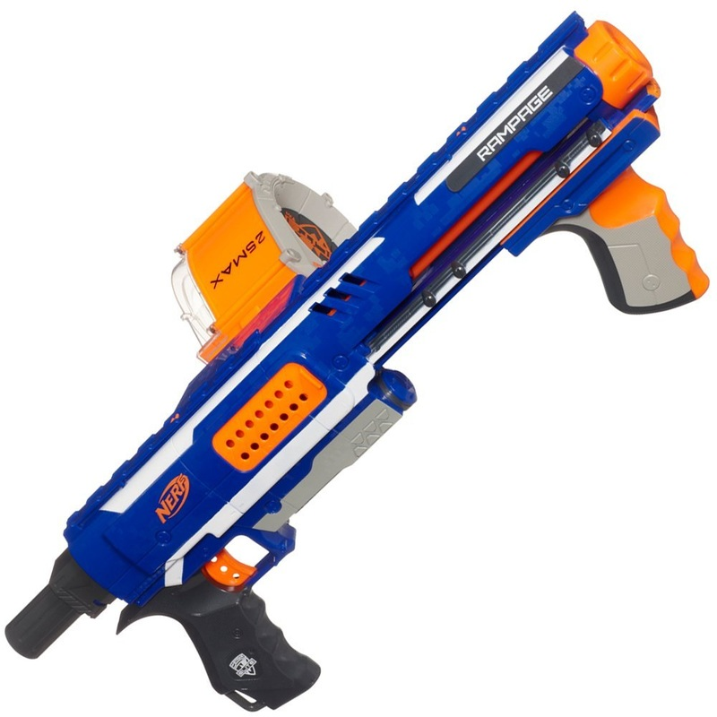 Nerf N-Strike Stampede ECS Soft Dart Gun With Drum Magazine